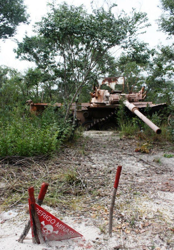 SADF Olifant tank in Cuito Cuanavale
